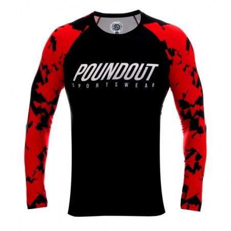 Poundout Rashguard Red Troops  1