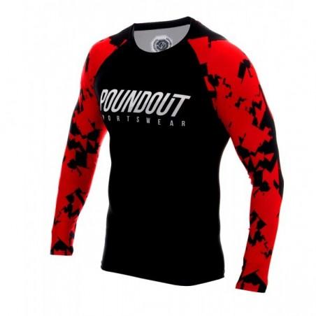 Poundout Rashguard Red Troops  2