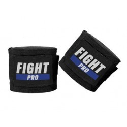 Fight Pro Bandaże bokserskie Basic Czarne 1