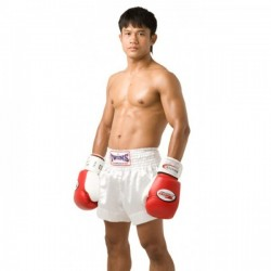 "Twins Special Spodenki Muay-Thai/K1 ""TTE"" Białe 1"