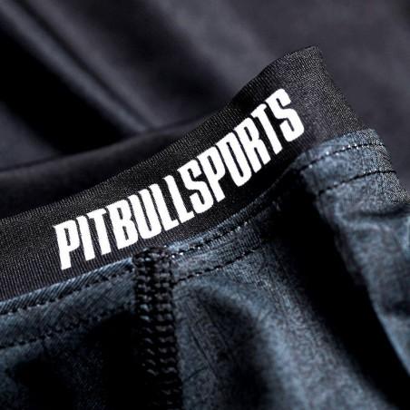 Pit Bull Rashguard Scratch Krótki Rękaw Szary 4