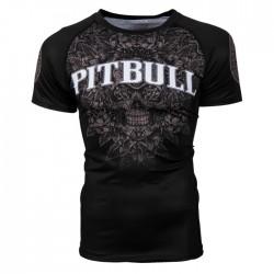 Pit Bull Rashguard Skull Krótki Rekaw Czarny 1
