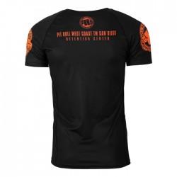 Pit Bull Rashguard Orange Dog Krótki Rękaw Czarny 3