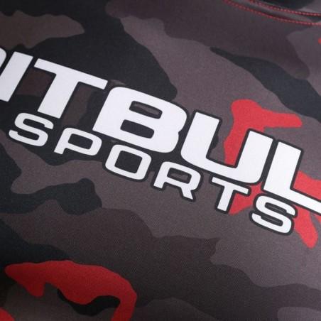Pit Bull Rashguard Camo Krótki Rękaw Czerwony 3