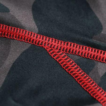 Pit Bull Rashguard Camo Krótki Rękaw Czerwony 5
