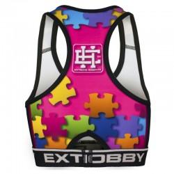 Extreme Hobby Top Damski Puzzle Różowy 1