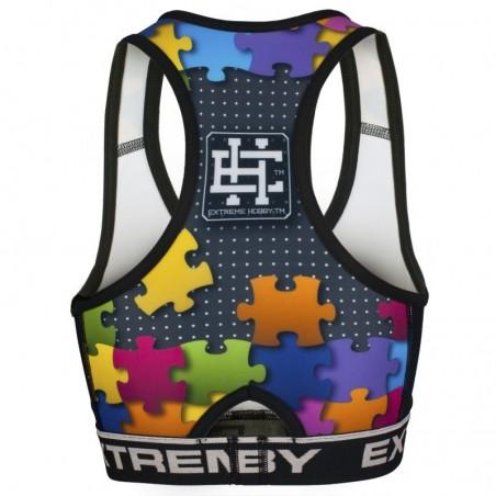 Extreme Hobby Top Damski Puzzle Czarny 2