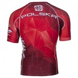 Extreme Hobby Rashguard Polska Krótki Rękaw Czerwony 1