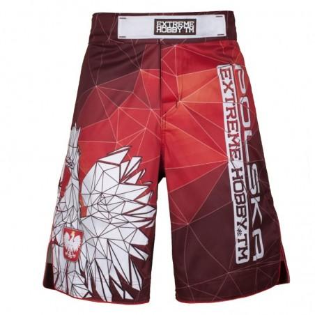 Extreme Hobby Spodenki MMA Polska Czerwone 1
