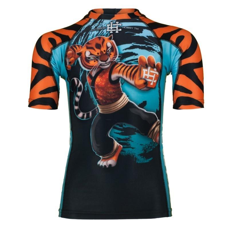 Extreme Hobby Rashguard Dziecięcy Tigress Krótki Rękaw