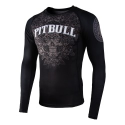 Pit Bull Rashguard Skull Długi Rekaw Czarny 1