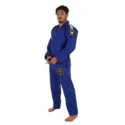 KiNGZ Kimono/Gi BJJ Basic 2.0 Niebieskie + Biały Pas 1