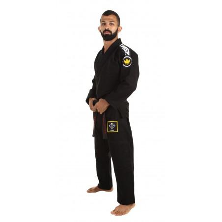 KiNGZ Kimono/Gi BJJ Basic 2.0 Czarne + Biały Pas 2