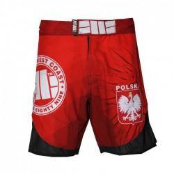 Pitbull Spodenki MMA Mesh Polska Czerwone 1