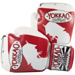 Yokkao Rękawice bokserskie Ronin Białe/Czerwone 1