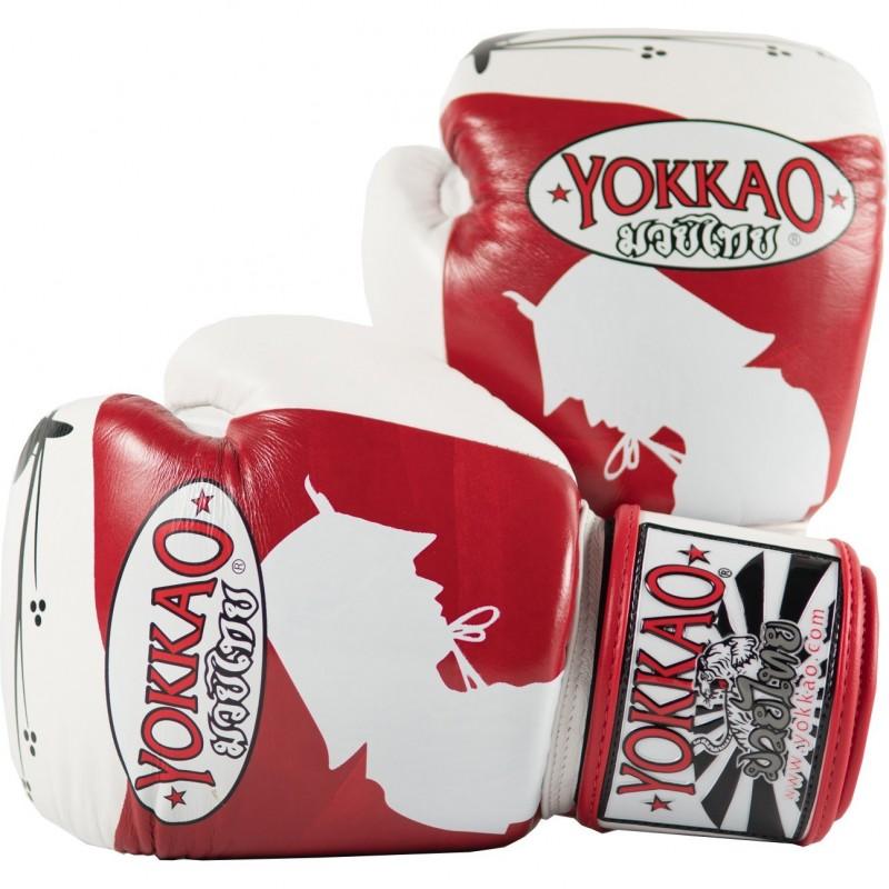 Yokkao Rękawice bokserskie Ronin Białe/Czerwone