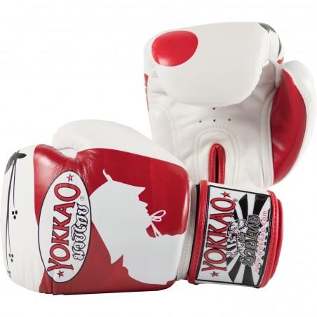 Yokkao Rękawice bokserskie Ronin Białe/Czerwone 2