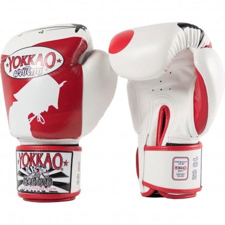 Yokkao Rękawice bokserskie Ronin Białe/Czerwone 3