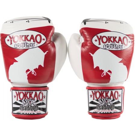 Yokkao Rękawice bokserskie Ronin Białe/Czerwone 4