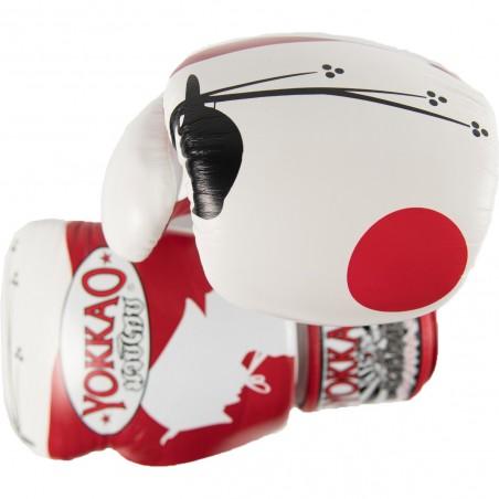 Yokkao Rękawice bokserskie Ronin Białe/Czerwone 5