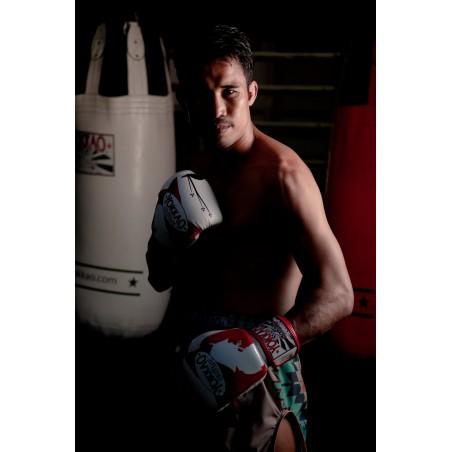 Yokkao Rękawice bokserskie Ronin Białe/Czerwone 6