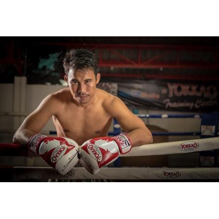 Yokkao Rękawice bokserskie Ronin Białe/Czerwone 7
