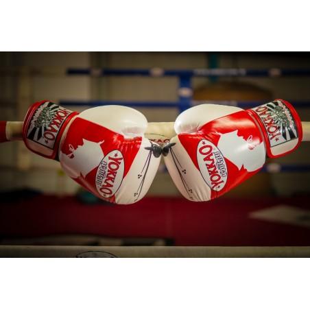 Yokkao Rękawice bokserskie Ronin Białe/Czerwone 8