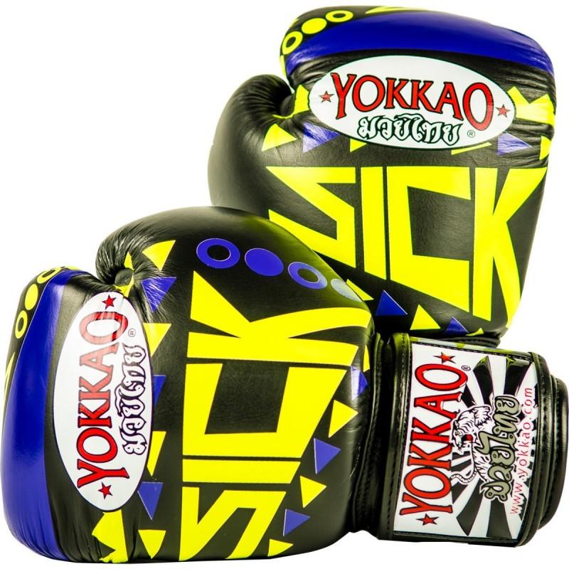 Yokkao Rękawice bokserskie Sick Fioletowe/Żółte