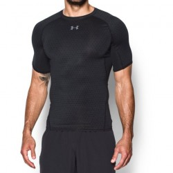 Under Armour HeatGear Armour Shortsleeve Printed Czarny 3 1