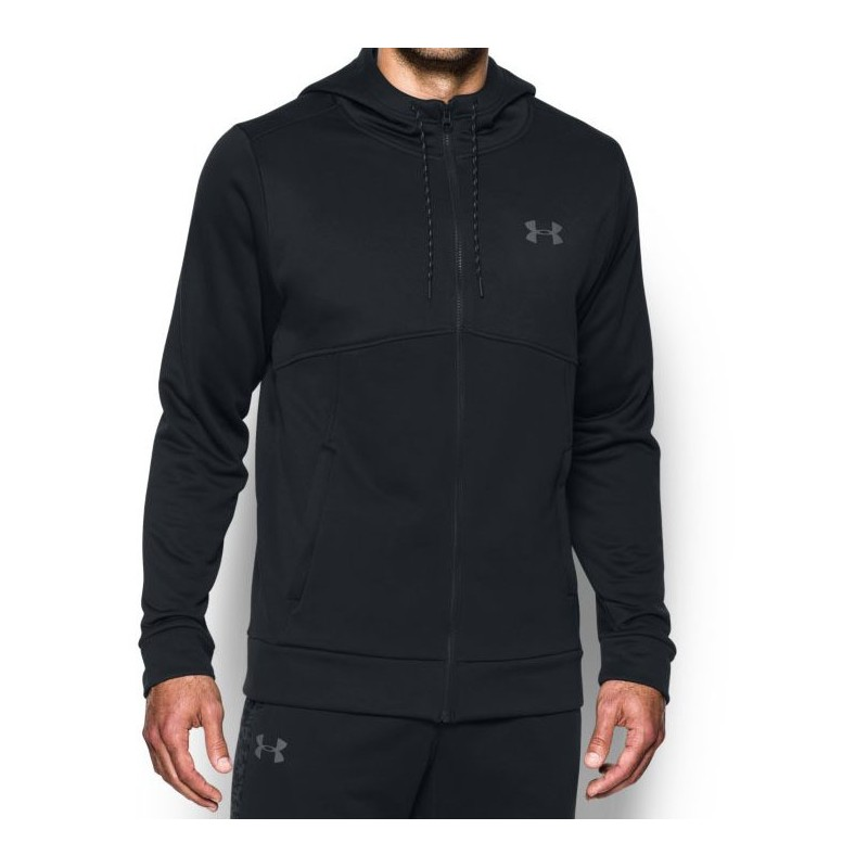 Under Armour Bluza z kapturem AF Full Zip Czarna