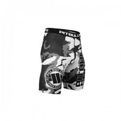 Pit Bull Szorty Kompresyjne Camo Czarne 1