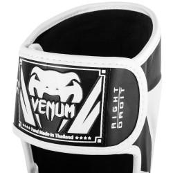 Venum Ochraniacze Piszczeli Elite Czarne/Białe 1