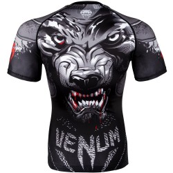 Venum Rashguard Werewolf Krótki Rękaw Czarny 1