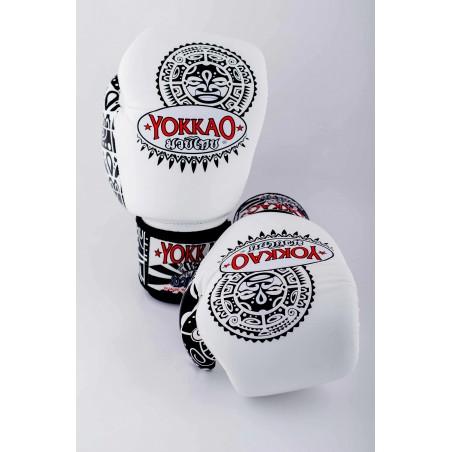 Yokkao Rękawice bokserskie Maui Białe 4