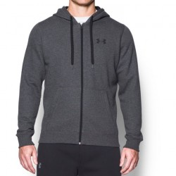 Under Armour Bluza z kapturem Rival Fitted Full Zip Grafitowa 1