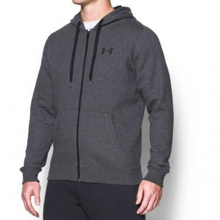 Under Armour Bluza z kapturem Rival Fitted Full Zip Grafitowa 2