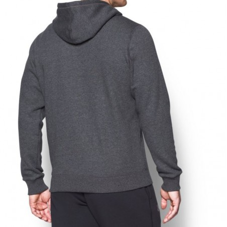 Under Armour Bluza z kapturem Rival Fitted Full Zip Grafitowa 3