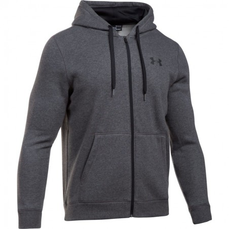 Under Armour Bluza z kapturem Rival Fitted Full Zip Grafitowa 4