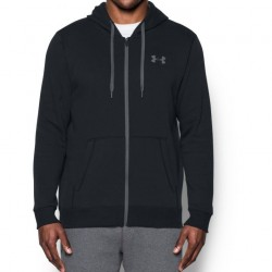 Under Armour Bluza z kapturem Rival Fitted Full Zip Czarna 1