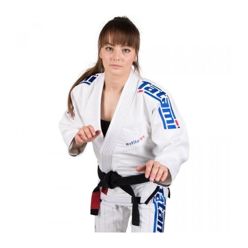 Tatami Kimono/Gi Damskie Estilo 6.0 Białe/Błękitne