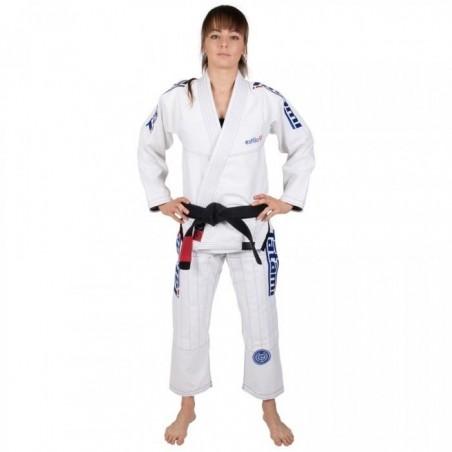 Tatami Kimono/Gi Damskie Estilo 6.0 Białe/Błękitne  2