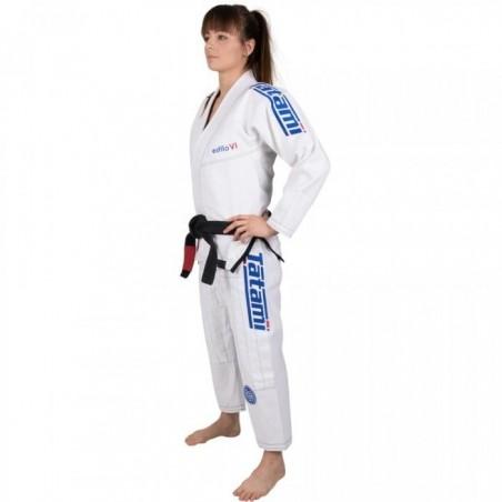 Tatami Kimono/Gi Damskie Estilo 6.0 Białe/Błękitne  3