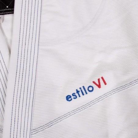 Tatami Kimono/Gi Damskie Estilo 6.0 Białe/Błękitne  9