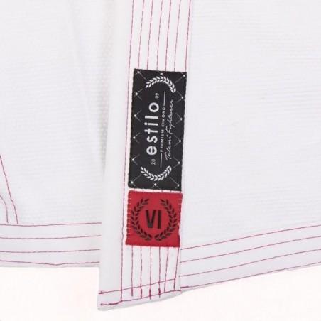 Tatami Kimono/Gi Damskie Estilo 6.0 Białe/Różowe 9