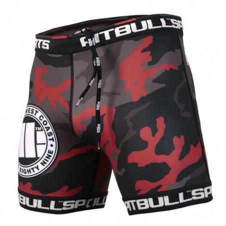 Pit Bull Szorty VT Camo Czerwone 1