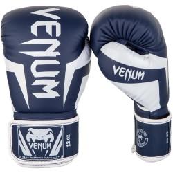 Venum Rękawice bokserskie Elite Białe/Granatowe 3