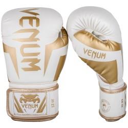 Venum Rękawice bokserskie Elite Białe/Złote 2
