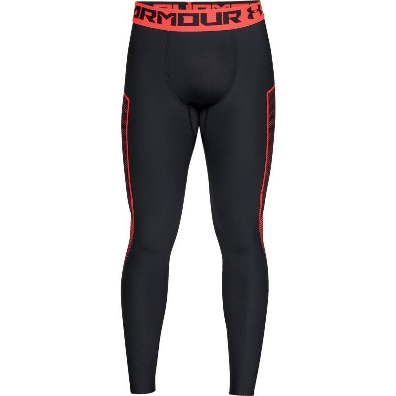 Under Armour Heatgear Armour Legging Graphic Czarne/Pomarańczowe