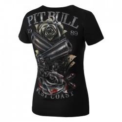 Pit Bull T-shirt Damski Player Czarny 1