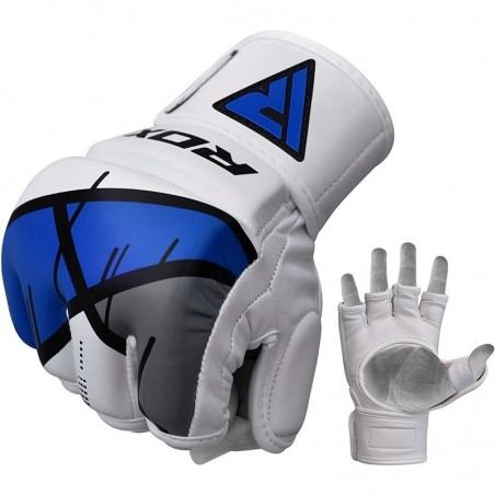 RDX Rękawice do MMA GGL- T7 Niebieski 2